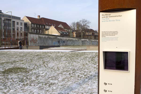 Die Mauer und der Grenzstreifen. Foto: Ingo Paszkowsky