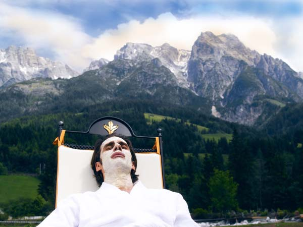 Mit den Bergen im Rücken wird die Kur besonders gut glücken. Foto: Hotel Forsthofgut