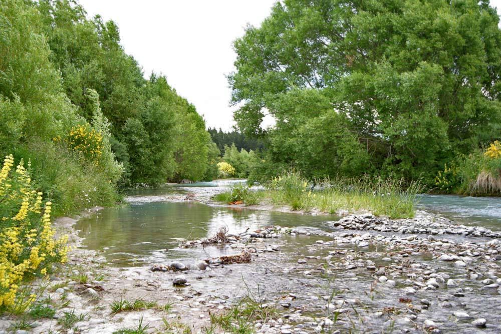 Über einen großen Teil seines Laufes ist der Rakaia River ein verflochtener Fluss. Foto: Paszkowsky
