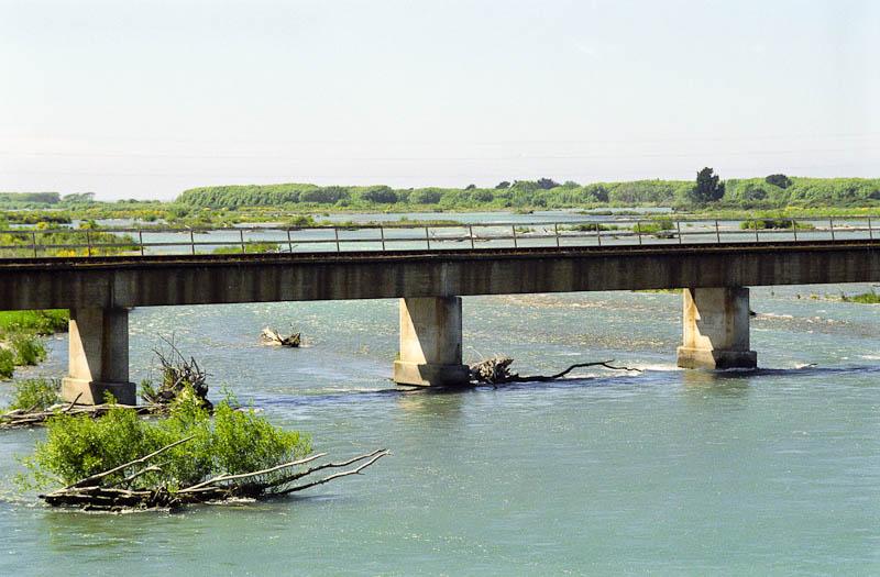 Zugbrücke über den Rakaia River. Foto: Ingo Paszkowsky