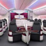 Die neue Business Class für die neue Boeing 787 wird in diesem Sommer erstmals auf der Langstrecke zwischen Doha und London Heathrow eingesetzt. Foto: Qatar Airways