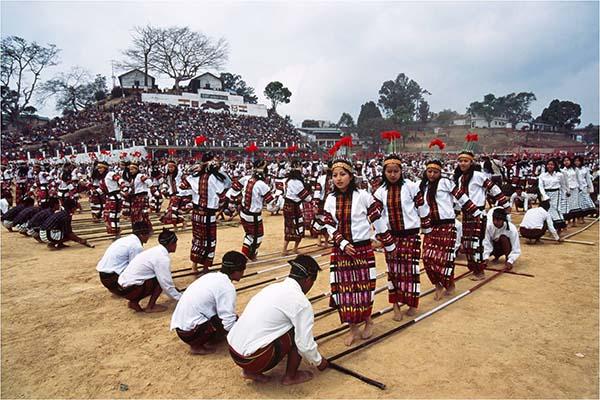 Das Chapchar Kut Festival mit Musik, Gesang und Tänzen wird im März in Mizoram, dem zweitkleinsten Bundesstaat Indiens, gefeiert. Foto: http://www.incredibleindia.org