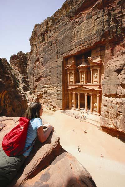 """Petras berühmtestes Monument, das Schatzhaus (""""al Khazne""""). Foto: JTB"""
