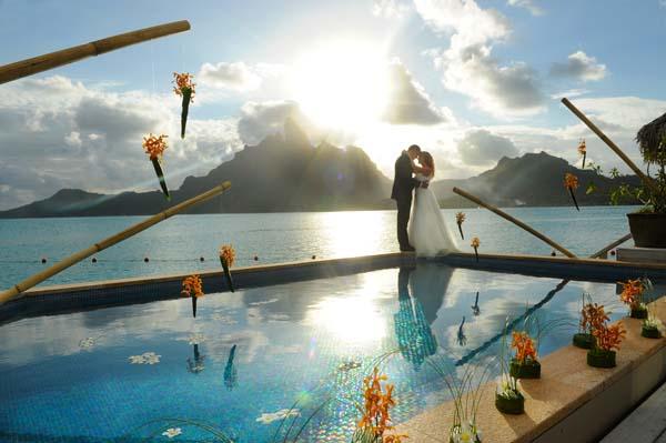Das St. Regis Bora Bora bietet ein spezielles Hochzeitspaket. Foto: St. Regis Bora Bora
