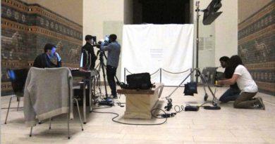 So entsteht die Gigapixel-Fotografie vom Schreitenden Löwen aus der Prozessionsstraße von Babylon im Pergamonmuseum. Foto: Staatliche Museen zu Berlin