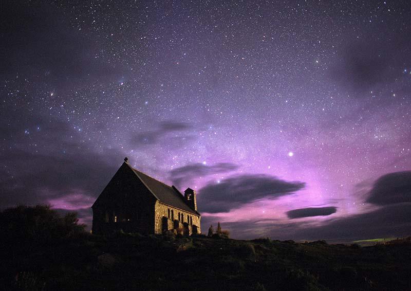 Polarlichter gibt es nicht nur im Norden, sondern auch auf der Südhalbkugel. Foto: Tourism New Zealand