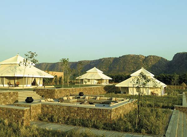 Luxus-Camping im Hotel Aman-I-Khas mit klimatiiserten Gästezelten. Foto: Tischler Reisen