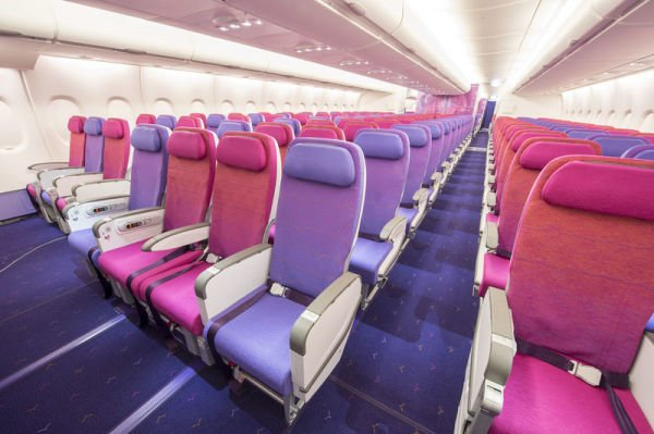 Die Economy Class des Thai Airways A380