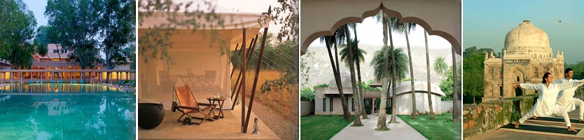 13 Tage geht es bei der neuen Reise von Tischler Reisen durch Indien, die Reisenden sind dabei in drei Hotels der legendären Aman-Gruppe untergebracht. Fotos: Tischler Reisen