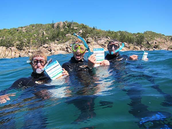 """Zwei neu errichtete """"self-guided Snorkel Trails"""" führen von küstennahen Punkten bis zu 400 Meter hinaus aufs Meer. Foto: Magnetic Island Tourism"""