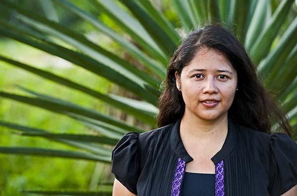 Maritza Morales Casanova (28) aus Mexiko baut einen Themenpark zu Umweltfragen in Yucatán auf, in dem Kinder spielerisch mehr über Umweltschutz lernen und andere Jugendliche dafür zu gewinnen. Foto: Rolex Awards / Francois Schaer