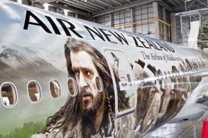 Die Abbildung erstreckt sich über 73 Meter Länge.  Foto: Air New Zealand