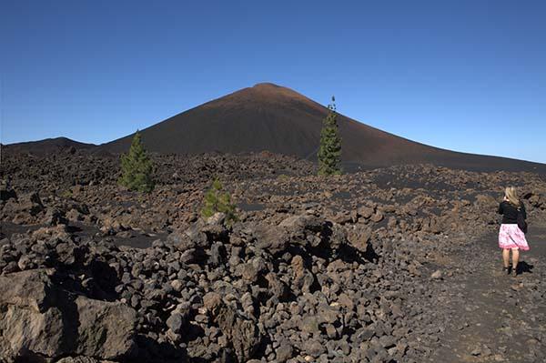 Im Reserva Natural Especial del Chinyero. Der Blick auf den Montana de Chinyero zeigt eine bizarre, schöne Vulkanlandschaft. Foto: Ingo Paszkowsky