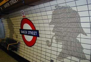 Baker Street ist die U-Bahnstation mit den meisten Bahnsteigen. Baker Street verfügt über 10 Bahnsteige. Nur die Station Moorgate hat ebenfalls 10 Bahnsteige, davon werden allerdings nur 6 von London Underground genutzt.  Foto: Visit Britain