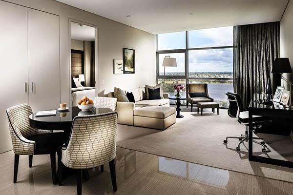 Ende des Jahres 2012 eröffnete die internationale Fraser Hospitality Group mit dem Fraser Suites Perth einen weiteren Standort. Foto: Frasers Hospitality Group