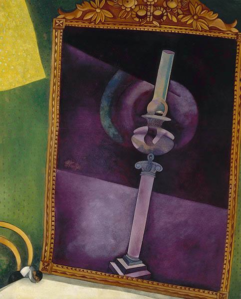 Marc Chagall Der Spiegel (Le miroir), 1915 Öl auf Karton, 100 x 81 cm Staatliches Russisches Museum, St. Petersburg Foto: 2013 ProLitteris, Zürich