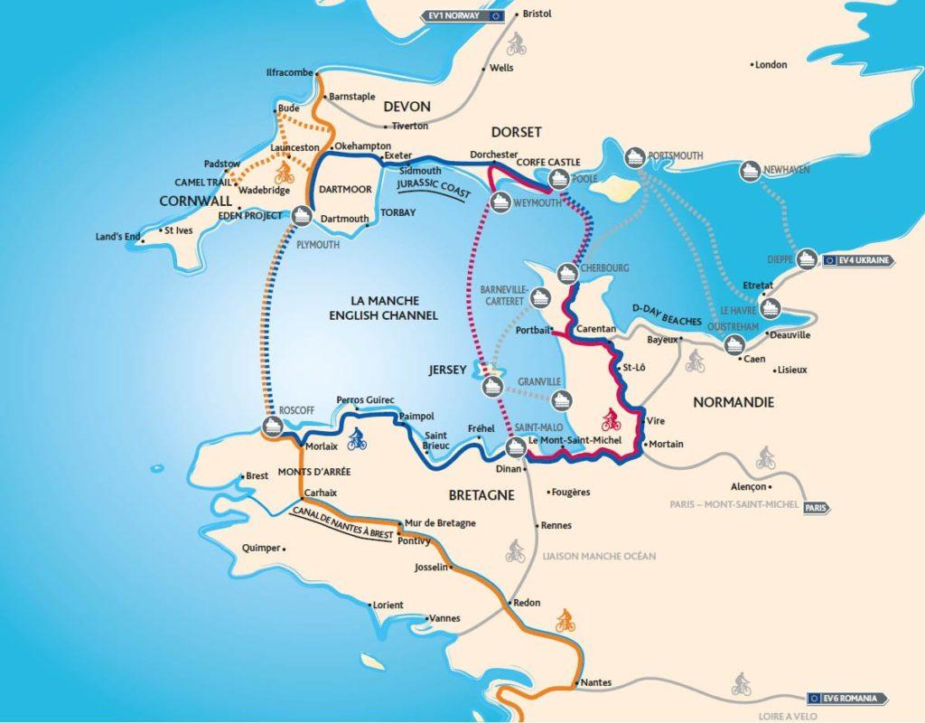 Cycle West – drei neue Radtouren. Grafik: CRT Bretagne