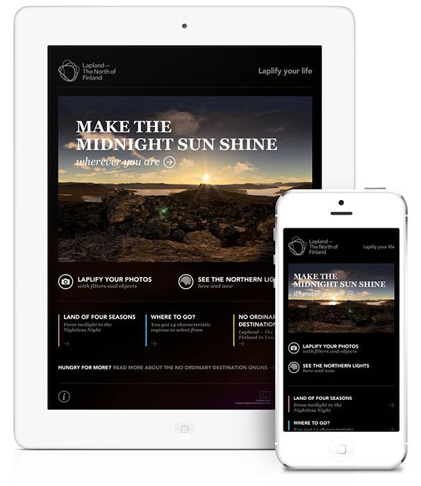 Für Apple-Geräte gibt es auch eine App zu Finnisch-Lappland. Foto: Region Council of Lapland