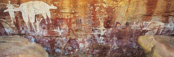 In unmittelbarer Nähe des Festival-Geländes befinden sich die berühmten prähistorischen Felszeichnungen von Laura. Foto: Tourism Queensland