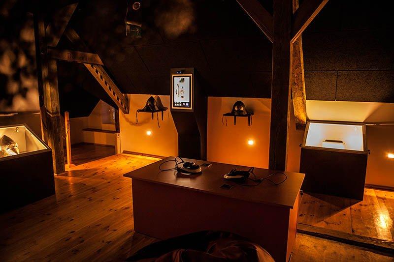Die moderne Ausstellung hat ihren Platz im barocken Rathaus. Foto: Interaktywne Muzeum Państwa Krzyżackiego