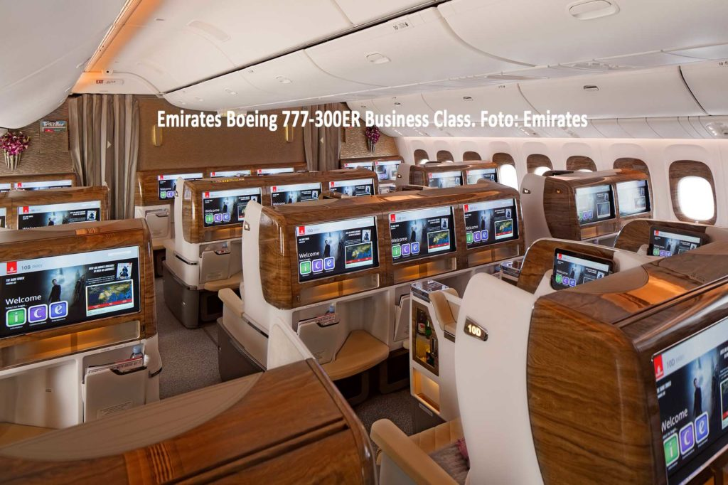 Emirates Boeing 777-300ER Business Class