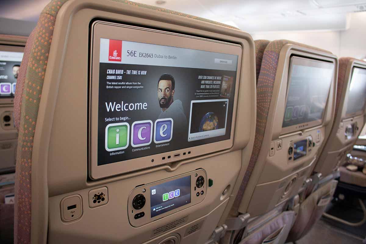 Economy im Emirates A380