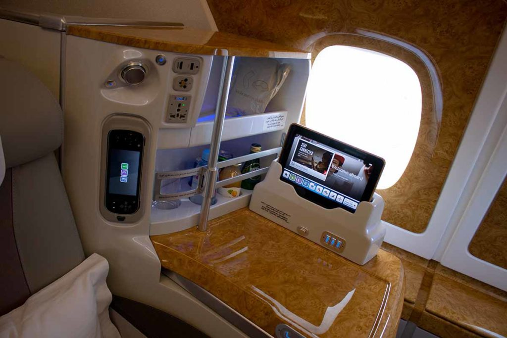 Emirates Airbus A380 Business Class