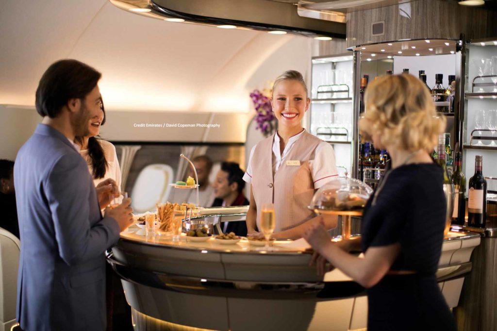 Emirates On Board Lounge A380 / Credit Emirates / David Copeman Photography
