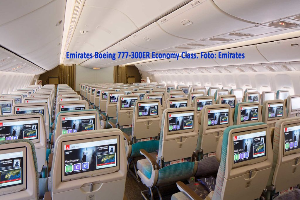 Emirates Boeing 777-300ER Economy Class