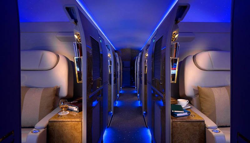 Die Privatsuiten an Bord von Emirates Executive. Foto: Emirates