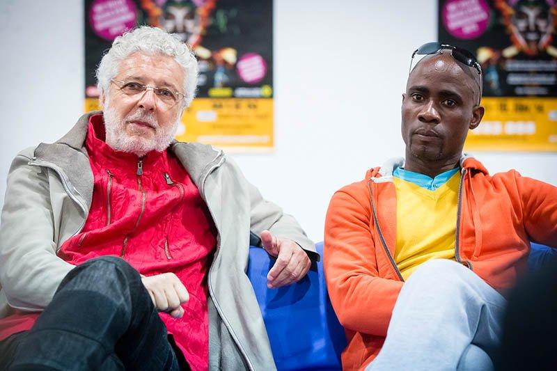 André Heller und Choreograph Georges Momboye. Foto: AFRIKA AFRIKA / KANIZAJ MARIJA