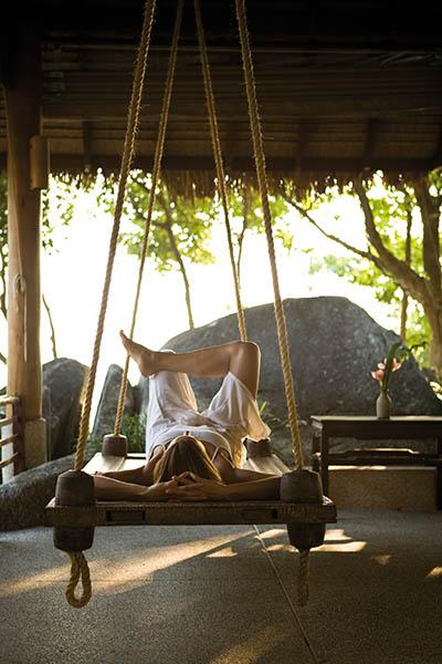 Entspannt durch den Herbst: Abhängen im Kamalaya, oder alternativ zu Hause Suppen löffeln. Foto: Kamalaya