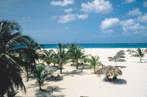 52 Wochen Sonnenschein – fast täglich gleichbleibend warme 28 Grad, durchschnittlich weniger als 60 Zentimeter Niederschlag im Jahr, niedrige Luftfeuchtigkeit und stets eine leichte Brise. Foto: Aruba Tourism Authority