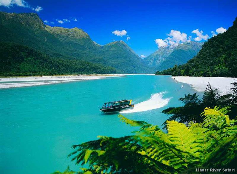 Der Haast River liegt in der Wahipounamu Region. Foto: Tourism New Zealand