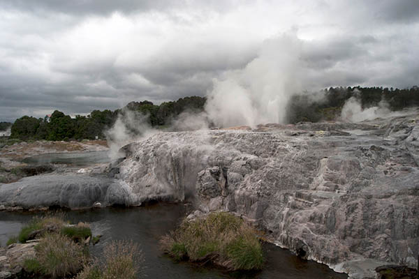 Schwefelquellen in Rotorua. Foto: Ingo Paszkowsky