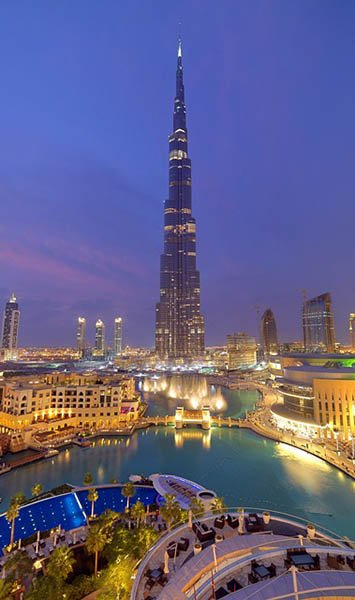 Das weltweit größte Gebäude, der Burj Khalifa. Foto: DTCM