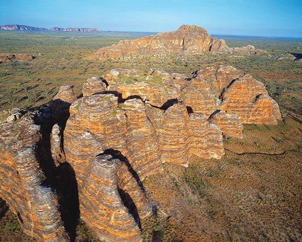 Der zum UNESCO-Weltnaturerbe erklärte Purnululu Nationalpark in Westaustraliens Kimberley-Region ist die Heimat der Bungle Bungle Ranges. Foto: Tourism Western Australia