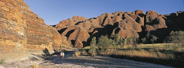Die Bungle Bungle wurden erst 1983 zufällig von einem Filmteam beim Überflug entdeckt. Foto: Tourism Western Australia