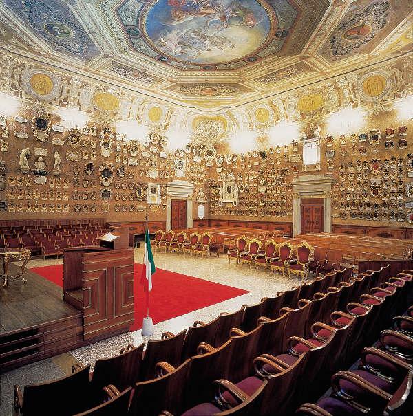 Die Aula Magna im Palazzo Bo der Universität Padua. © F. e M. Danesin