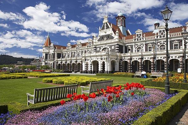 Dunedin historischer Bahnhof. Foto: Tourism New Zealand