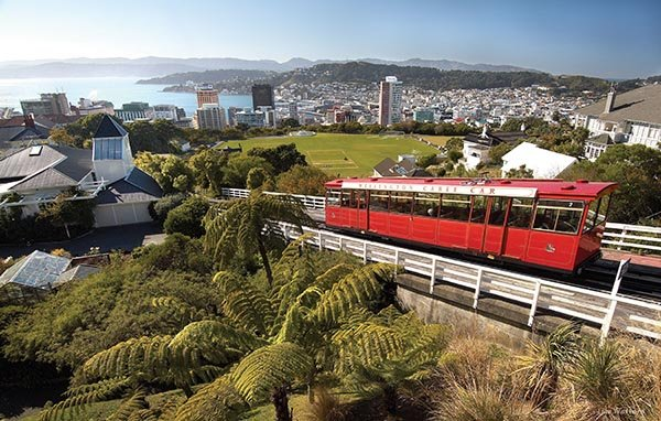 Kelburn Hill Cable Car in Wellington. Foto: Tourism New Zealand