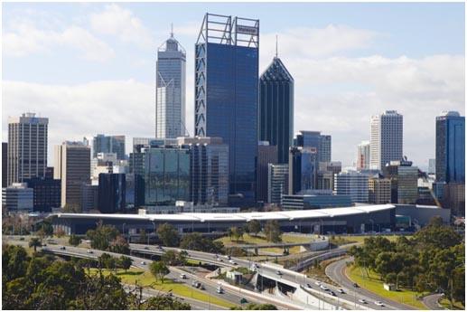 Skyline von Perth, Blick vom Kings Park. Foto: Detlef Knoll