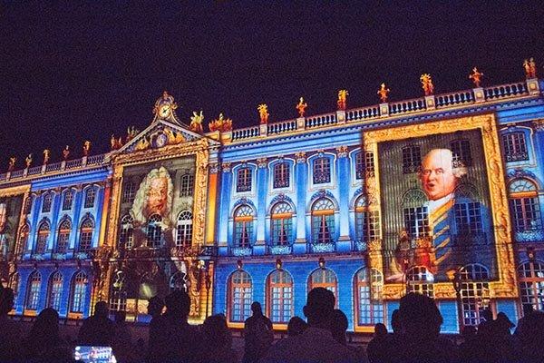 Licht- und Ton-Show Rendez vous Place Stanislas. Foto: Ingo Paszkowsky
