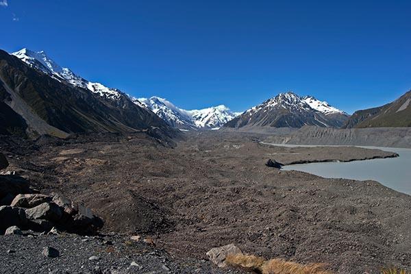 Tasman Gletscher. Mount Cook National Park. Foto: Ingo Paszkowsky