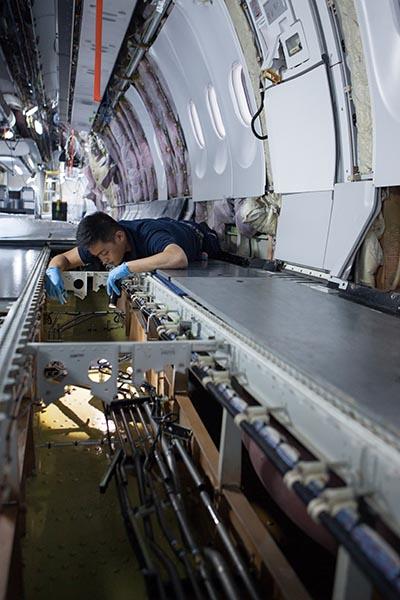 Einbau der First Class. Foto: Lufthansa/Imagesmith Photography