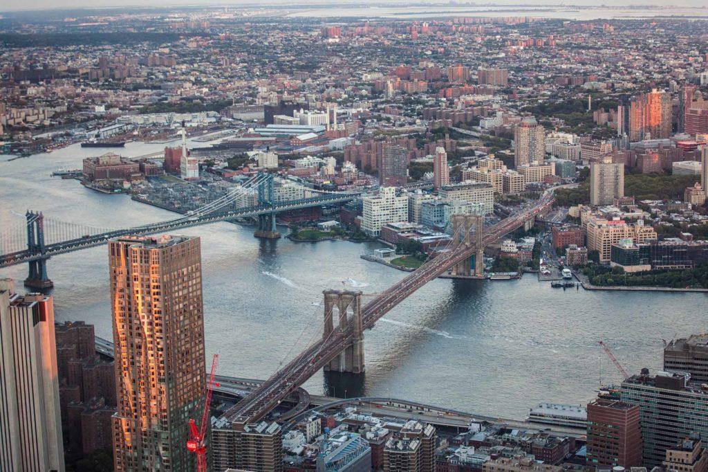 Schöne Aussichten vom One World Trade Observatory, Manhattan, NYC / Credit: NYC & Company / Tagger Yancey IV
