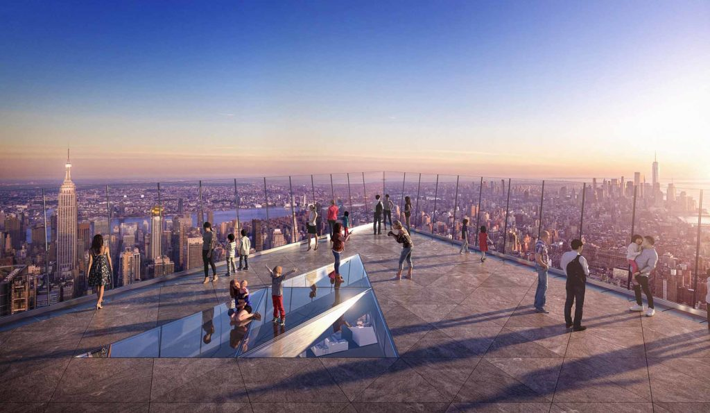 The Edge in den Hudson Yards als die höchste, freie Aussichtsplattform in der westlichen Hemisphäre / Courtesy of Related-Oxford