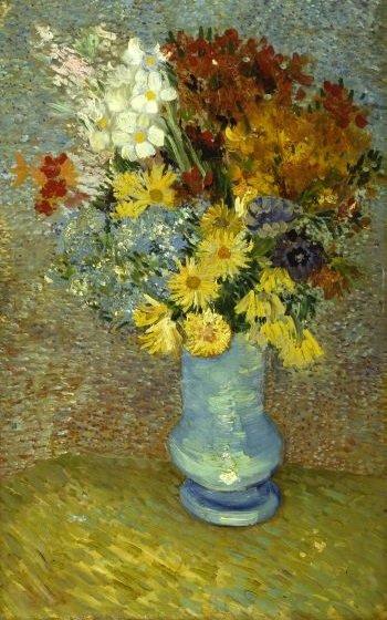 Blumen in blauer Vase. Foto: Kröller-Müller Museum