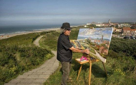 Künstler an der Küste in Domburg. Foto: NBTC