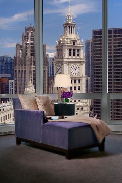 Im Trump International Hotel & Tower Chicago übernachten die Gäste im Zentrum der Metropole. Foto: Trump Tower